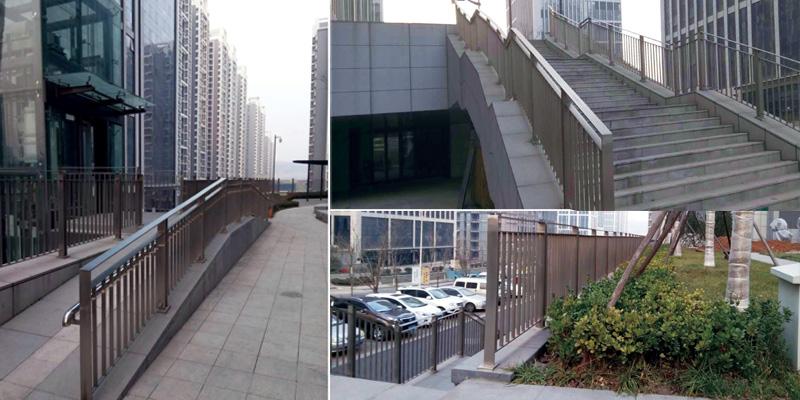 汉峪金谷.不锈钢景观栏杆